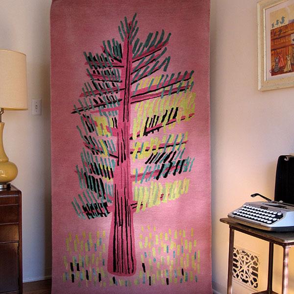 Cedar in Pink - Handmade Rug