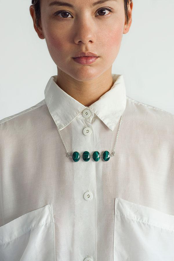 Capital Malachite Necklace