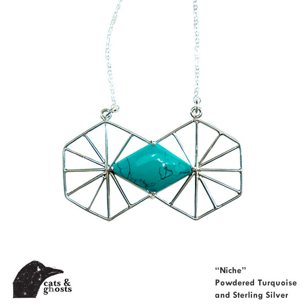 Niche Turquoise and Sterling Silver Necklace