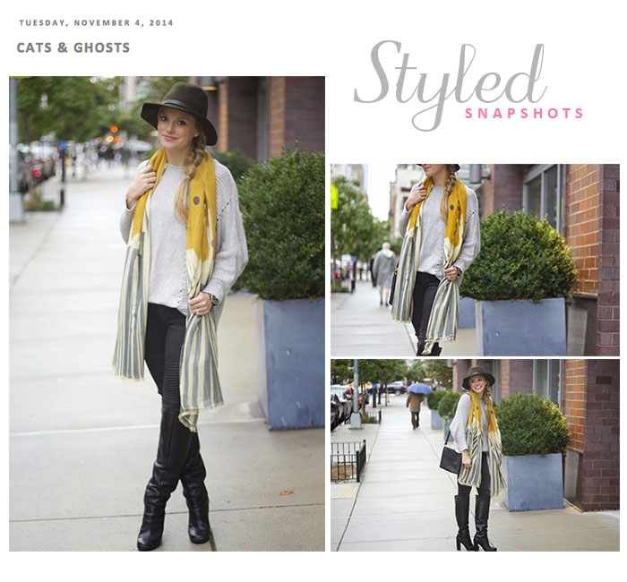 Styled Snapshots models our wings pashmina